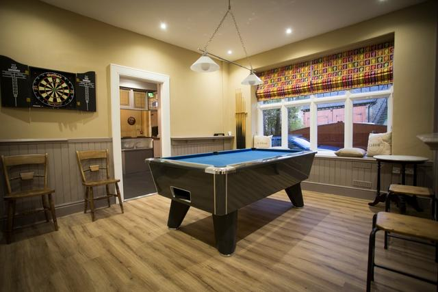 Games Area with Pool Table & Darts Board
