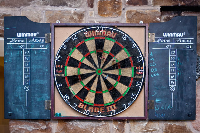 Darts Board in Games Room