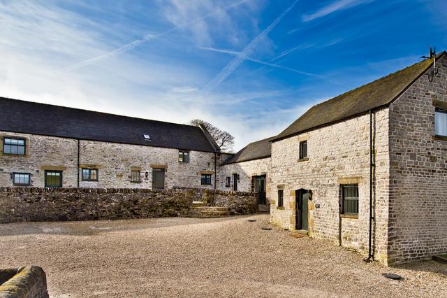 External view (from left) Bat's Belfry, Cruck'd Barn, Applegarth & Amberleigh House