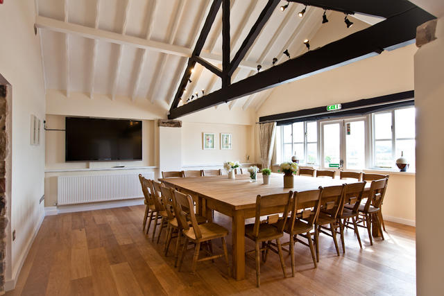 Dining Room with Original Oak Beams