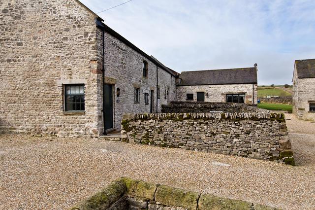 Courtyard layout- (from left) Bat's Belfry, Cruck'd Barn, Applegarth