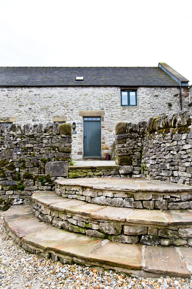 Steps up to Front Door- Cruck'd Barn