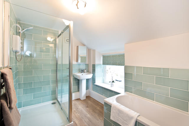 Shared Bathroom with Great Seperate Bath & Shower