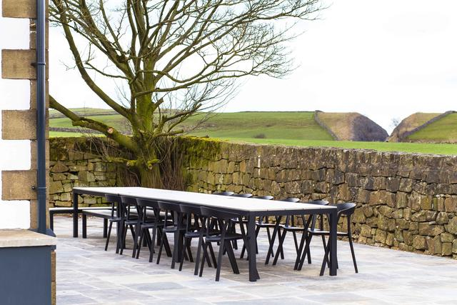 Outside Dining with Seating for Up to 24 - Mixture of Chairs & Benches