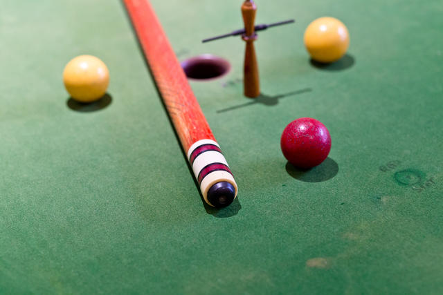 Old Fashioned Billiards Table