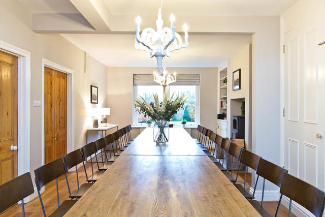 Large bright dining room