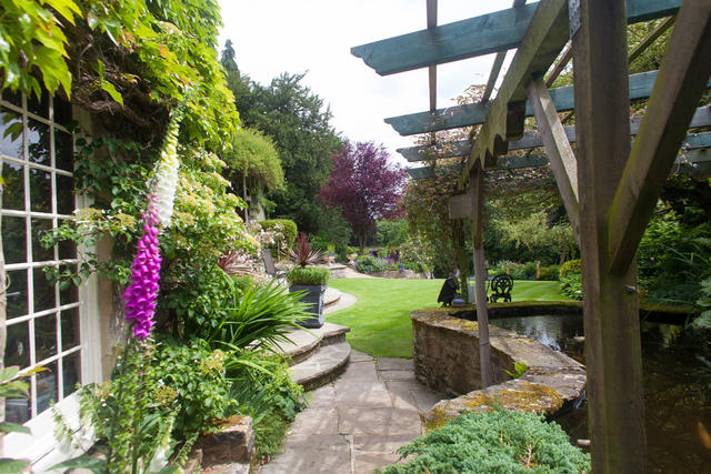 View of the stunning garden