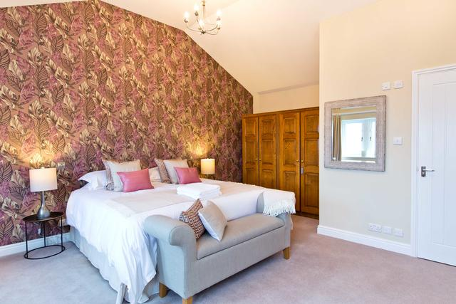 Bed 4 - Master Bedroom - off landing down a few steps - large twin/double room with ensuite shower room