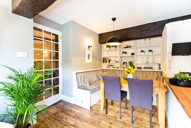 Lovely informal dining space at one end of the kitchen