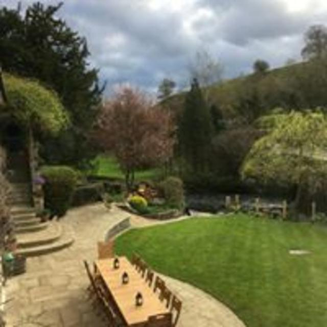 A spectacular garden with the River Wye running at the bottom of it