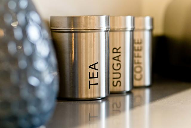 Tea, Sugar, Coffee containers