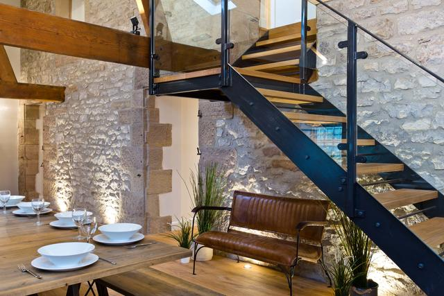 Contemporary staircase in the Barn
