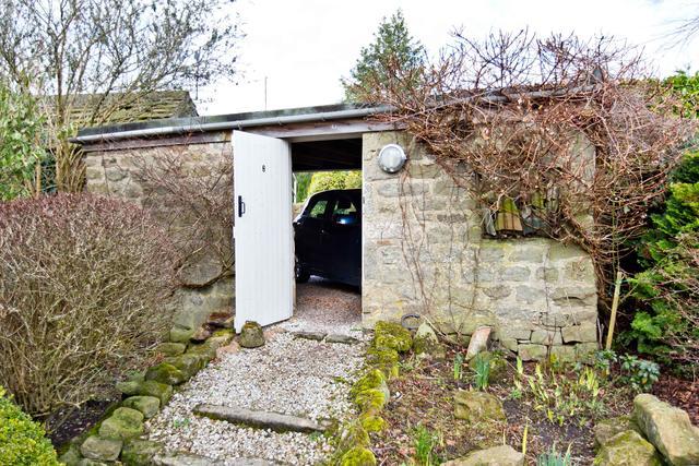 Exterior garage view