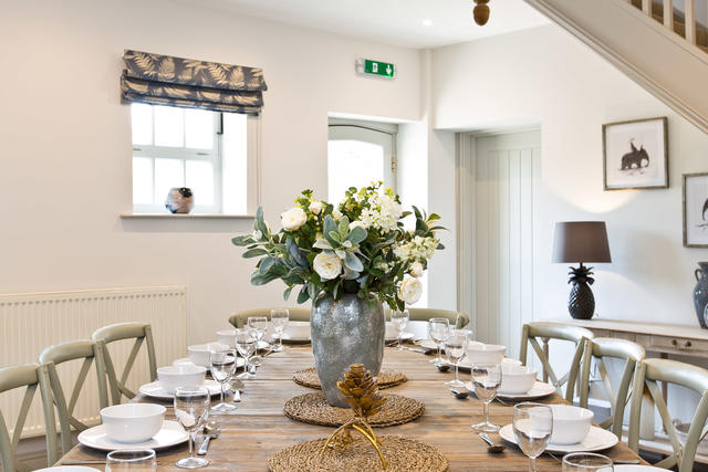 Formal dining room perfect for celebratory meals