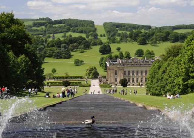 UK Derbyshire family holiday water feature activity