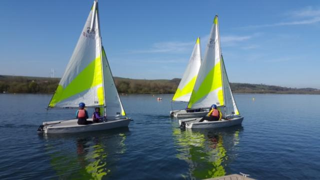 Sailing at Carsington Water