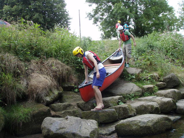 Kayak transport in the peak district