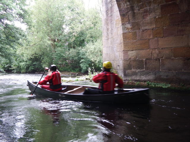 Kayak on river wye