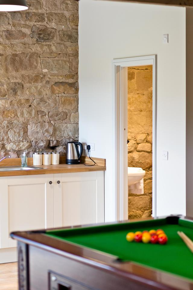 Manifold Barns Pool Table and Kitchenette in Games Room