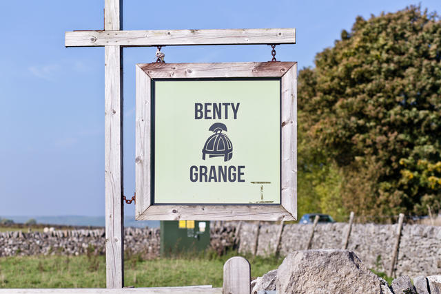 Sign at end of entrance to Benty Grange site