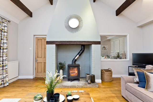 Log Burner in the Main Lounge