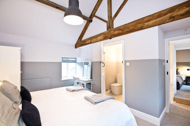 The Coach House bedroom with en suite