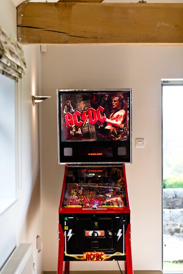 Pinball Machine in Game Room