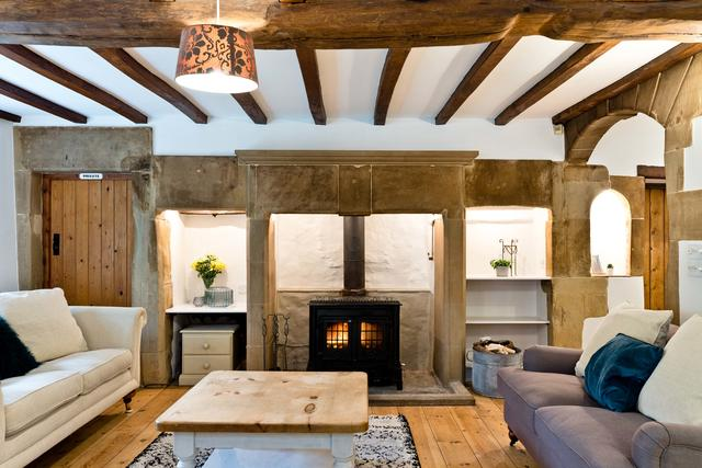 Exposed Beams & Stonework