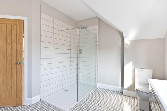 Large Shower / wet room in shared bathroom