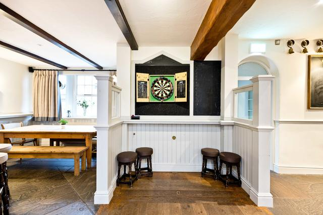 Bar Area with Dartboard