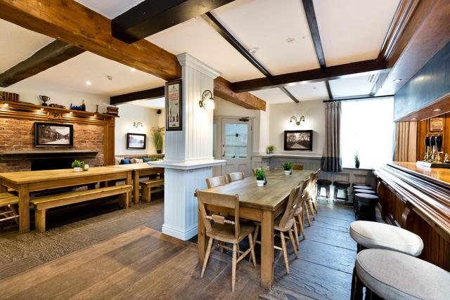 Great Social Dining Space in the bar area
