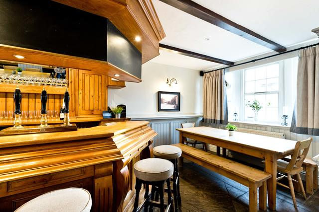 Original Bar Area with social dining space