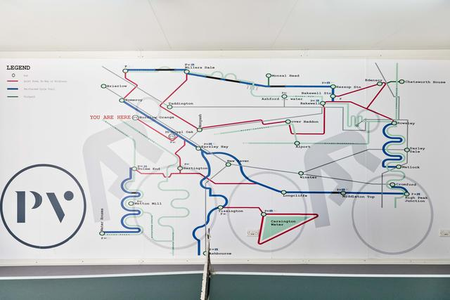 Trail Map in the games room