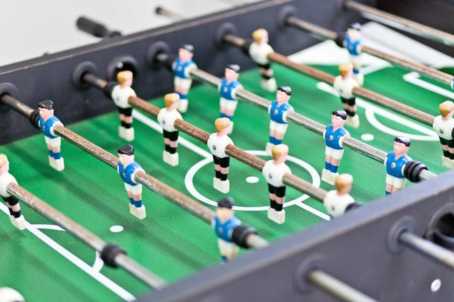 table football available in the communal games room