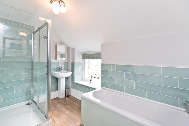 Light and Airy Shared Bathroom