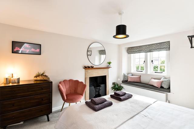 Bedroom 1 with window seat