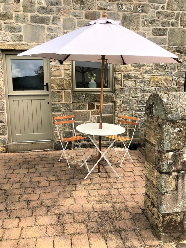 Annexe outdoor seating area