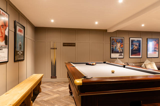 Pool table in the new games room