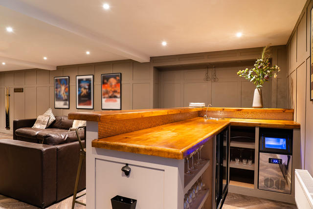 The new bar area in the games room