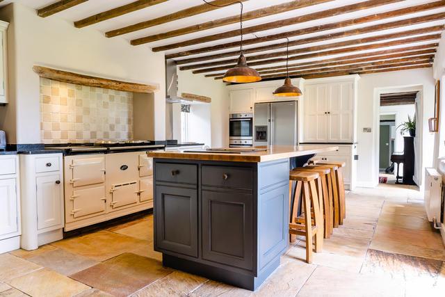 Kitchen area at Oak Tree Farm