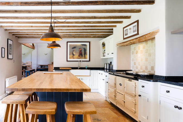 Huge kitchen with central island