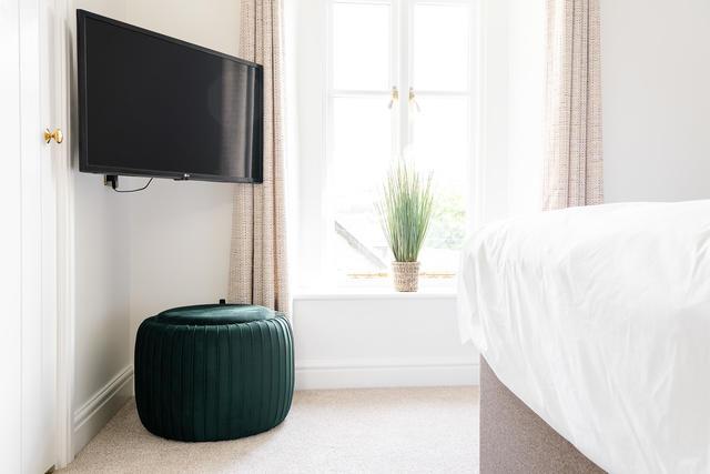 TV in the main bedroom