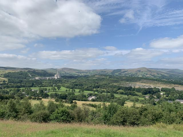 Far reaching views of the Hope Valley
